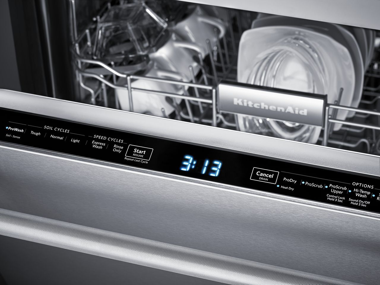 KitchenAid Built-In Stainless Dishwasher - KDTM404ESS