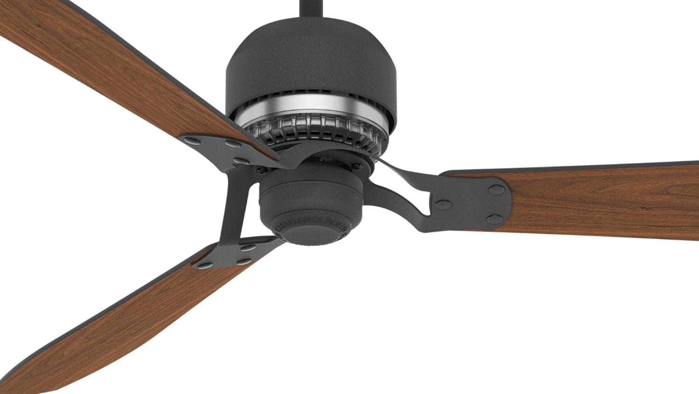 Aeronautical Ceiling Fan : Casablanca quot tribeca graphite ceiling fan htrc