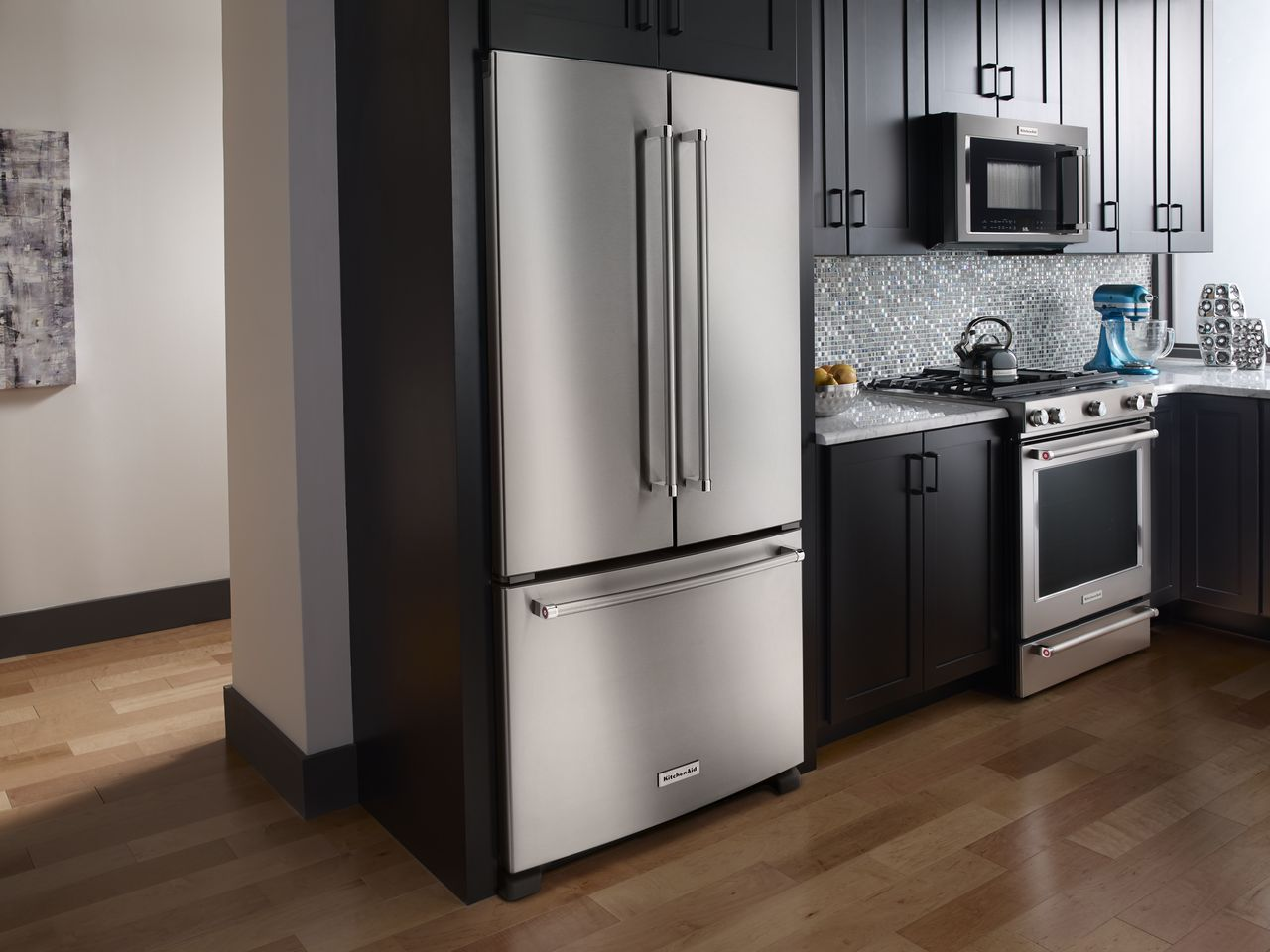 Kitchenaid stainless french door refrigerator krfc302ess roll over image to zoom in rubansaba