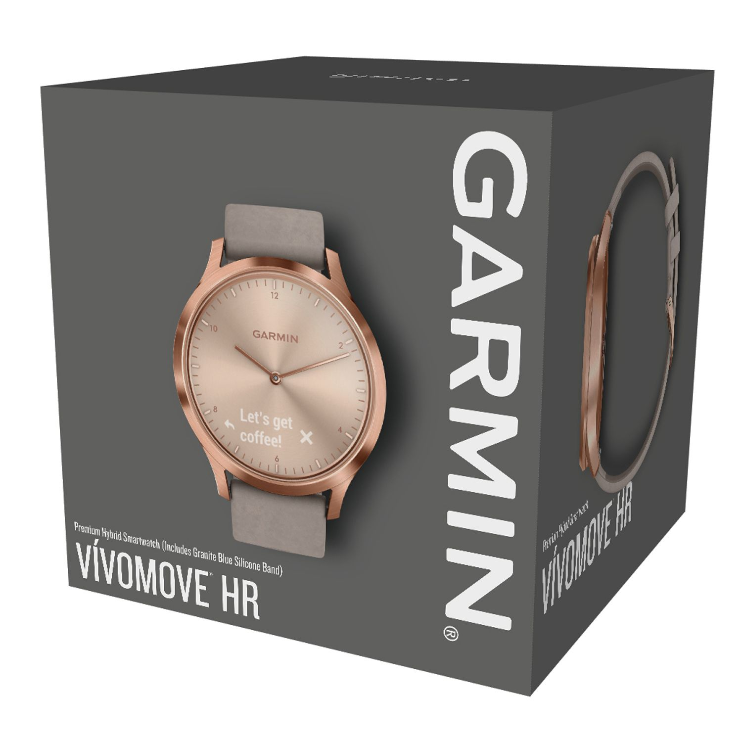 Garmin vivomove HR Rose Gold Smartwatch - 010-01850-19 5b22cb265c9
