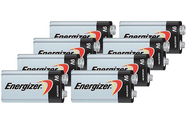 Large image of Energizer MAX 9V Alkaline Battery (8 Pack) - 9V8PACK-E