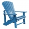 C.R. Plastic Products C01 Blue Adirondack Chair - C01-03