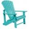C.R. Plastic Products Turquoise Adirondack Chair - C01-09