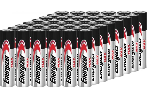 Large image of Energizer MAX AA Alkaline Battery (48 Pack) - AA48PACK-E