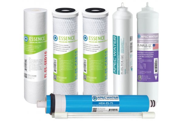 Large image of APEC Water Complete Filter Set For ESSENCE 75 GPD PH And UV Reverse Osmosis 7-Stage Systems - FILTER-MAX-ESPHUV-SSV2