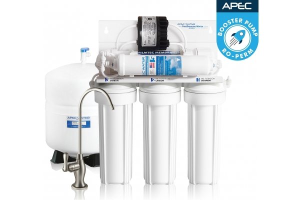Large image of APEC Water Ultimate Series Permeate Pumped Under-Sink Reverse Osmosis Drinking Water Filter System - RO-PERM