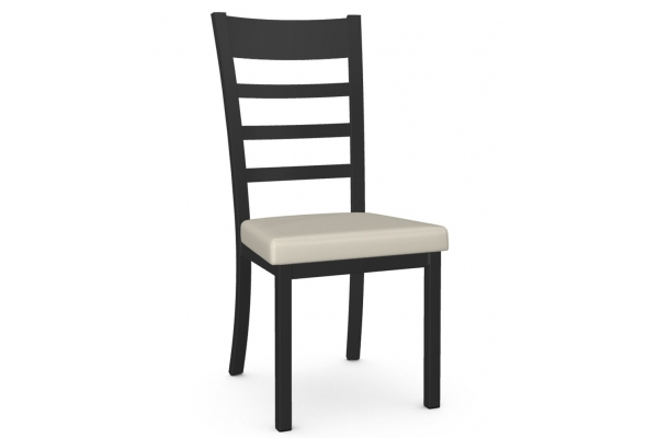 Large image of Amisco Owen Oyster/Black Coral Dining Chair - 30154-25/DB