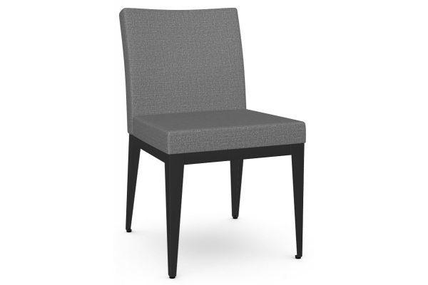 Large image of Amisco Pablo Black Coral/Silverpoint Dining Chair - 35304-25/KZ