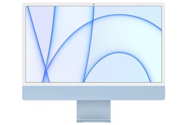 """Large image of Apple Blue 24"""" iMac M1 Retina 4.5K Desktop Computer (2021) - MJV93LL/A"""
