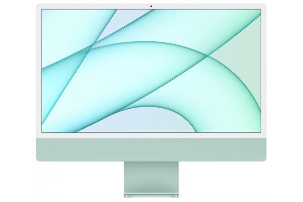 "Large image of Apple Green 24"" iMac M1 Retina 4.5K Desktop Computer (2021) - MJV83LL/A"
