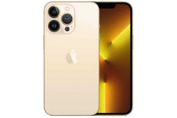 Large image of Apple 256GB Gold iPhone 13 Pro Cellular Phone - MLQP3LL/A & 6183D