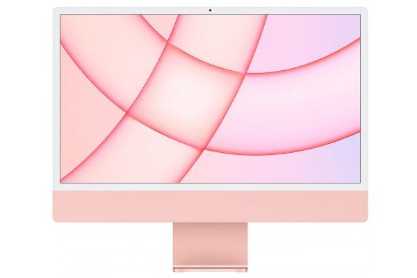 "Large image of Apple Pink 24"" iMac M1 Retina 4.5K Desktop Computer (2021) - MJVA3LL/A"