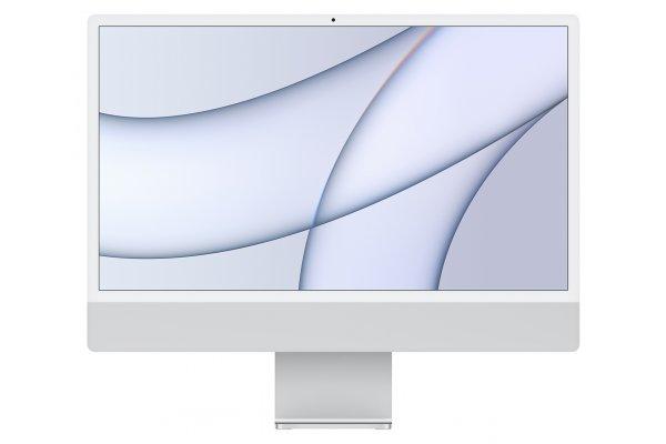 "Large image of Apple Silver 24"" iMac M1 Retina 4.5K Desktop Computer (2021) - MGTF3LL/A"