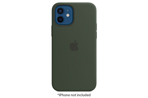 Large image of Apple iPhone 12/12 Pro Cyprus Green Silicone Case With MagSafe - MHL33ZM/A