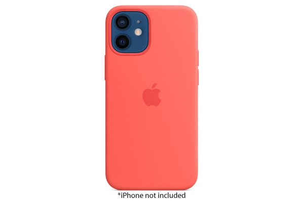 Large image of Apple iPhone 12 Mini Pink Citrus Silicone Case With MagSafe - MHKP3ZM/A