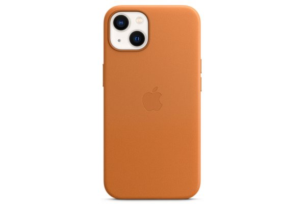 Large image of Apple iPhone 13 Golden Brown Leather Case With MagSafe - MM103ZM/A
