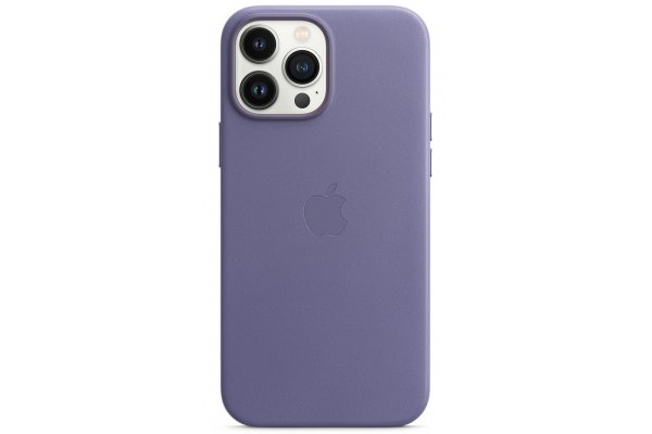 Large image of Apple iPhone 13 Pro Max Wisteria Leather Case With MagSafe - MM1P3ZM/A