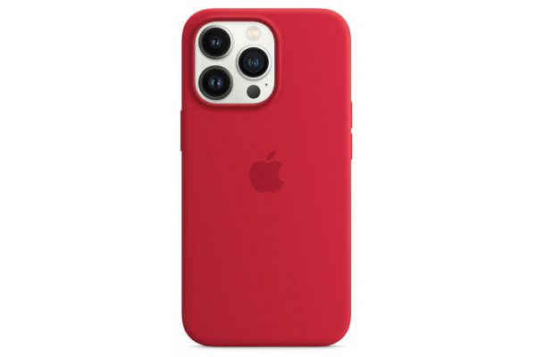 Large image of Apple iPhone 13 Pro (PRODUCT)RED Silicone Case With MagSafe - MM2L3ZM/A