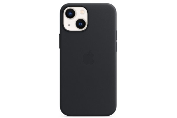 Large image of Apple iPhone 13 mini Midnight Leather Case With MagSafe - MM0M3ZM/A