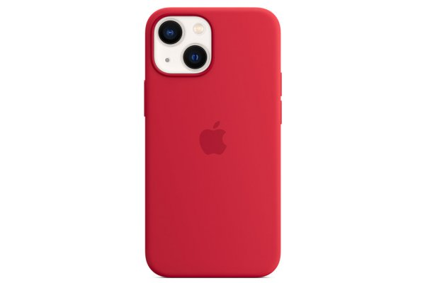 Large image of Apple iPhone 13 mini (PRODUCT)RED Silicone Case With MagSafe - MM233ZM/A