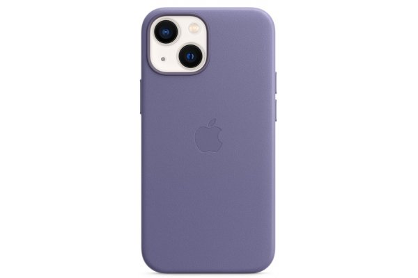Large image of Apple iPhone 13 mini Wisteria Leather Case With MagSafe - MM0H3ZM/A