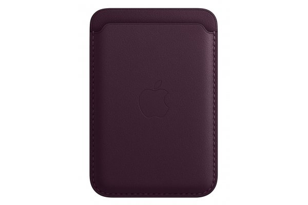 Large image of Apple iPhone Dark Cherry Leather Wallet With MagSafe - MM0T3ZM/A