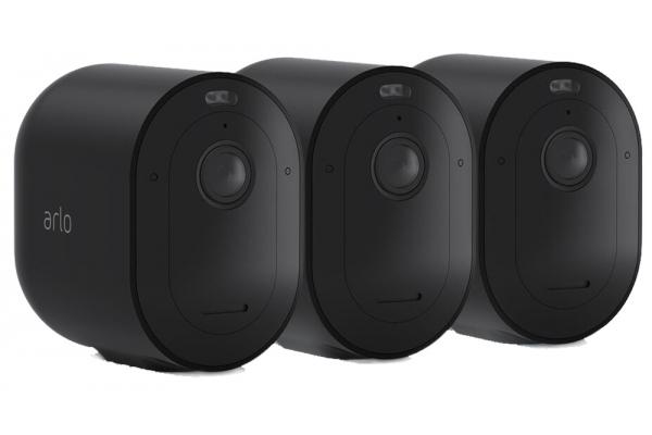 Large image of Arlo Black Pro 4 Wire-Free Spotlight Camera - 3 Camera Pack - VMC4350B100NAS