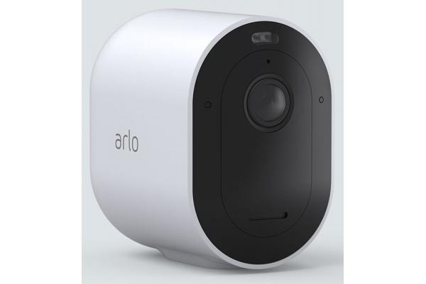 Large image of Arlo White Pro 4 Wire-Free Spotlight Camera - 1 Camera Pack - VMC4050P100NAS