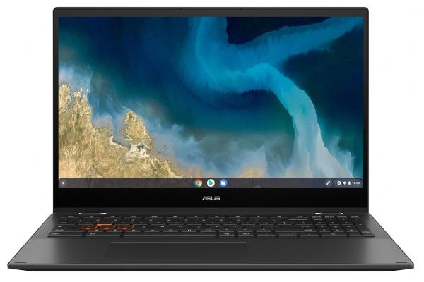 "Large image of Asus Chromebook Mineral Gray 15.6"" AMDRyzen33250UProcessor 4GB RAM 64GB eMMC, AMD Radeon Graphics - CM5500FDA-DS344T"