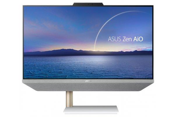 "Large image of Asus White Zen AiO 24 All-In-One 23.8"" Desktop Computer AMD Ryzen 7 5700U 16GB RAM 512GB SSD, AMD Radeon Graphics - M5401WUA-DS704T"
