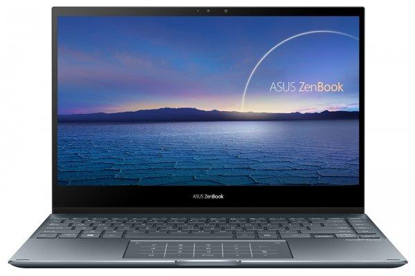 "Large image of Asus ZenBook Flip 13 Pine Gray 13.3"" Laptop Intel i7-1165G7 16GB RAM 512GB SSD, Intel Iris Xe Graphics - UX363EA-XH71T"
