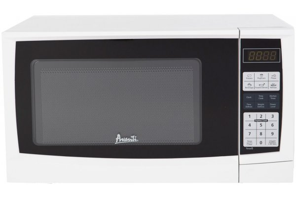 Large image of Avanti 0.9 Cu. Ft. White Countertop Microwave - MT9K0W