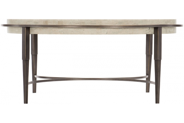 Large image of Bernhardt Barclay Metal Round Cocktail Table - 512-015