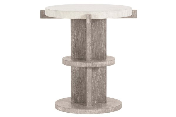 Large image of Bernhardt Foundations Two-Tone Accent Table - 306-128