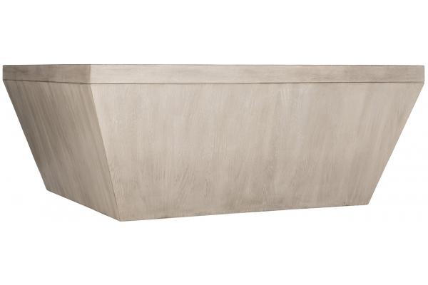 Large image of Bernhardt Landers Cerused Greige Square Cocktail Table - 534-011