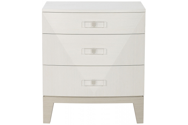 Large image of Bernhardt Linear White Axiom Nightstand - 381-228