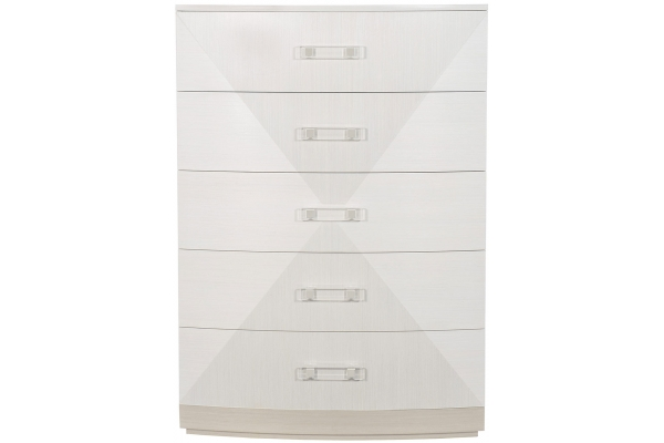 Large image of Bernhardt Linear White Axiom Tall Chest - 381-119