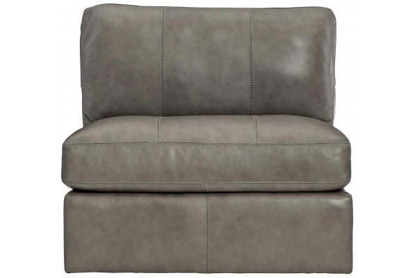 Large image of Bernhardt Stafford Leather Armless Chair - 4830LO