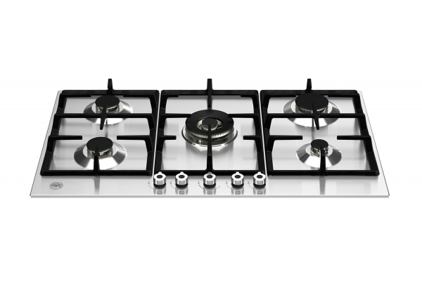 """Large image of Bertazzoni 36"""" Professional Series Stainless Steel Front Control Gas Cooktop With 5 Burners - PROF365CTXV"""