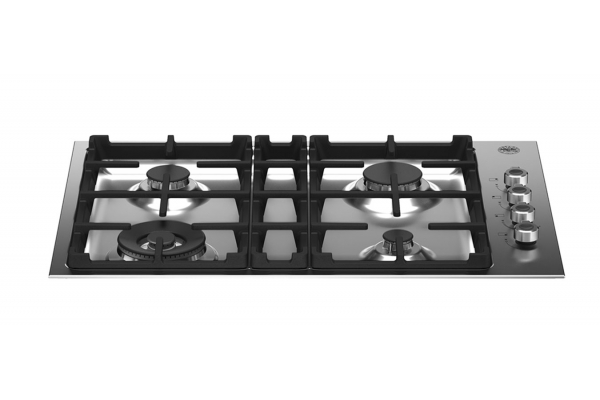 """Large image of Bertazzoni 30"""" Professional Series Stainless Steel Drop-In Gas Cooktop With 4 Burners - PROF304QXE"""