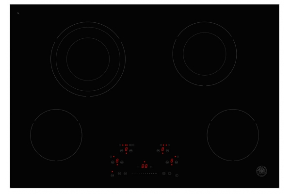 """Large image of Bertazzoni 30"""" Professional Series Black Ceran Touch Control Cooktop - PE304CER"""