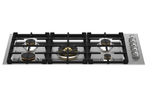 """Large image of Bertazzoni 36"""" Master Series Stainless Steel Drop-In Gas Cooktop - MAST365QBXT"""