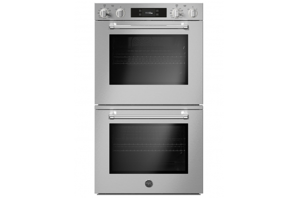 """Large image of Bertazzoni 30"""" Master Series Stainless Steel Double Wall Electric Oven w/ Self-Clean & Bertazzoni Assistant - MAST30FDEXT"""