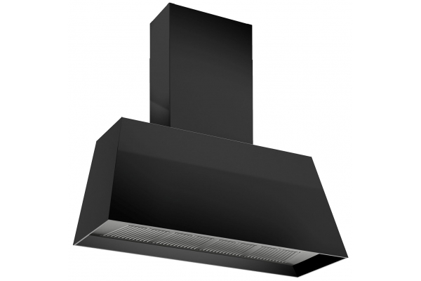 "Large image of Bertazzoni Master Series 48"" Matte Black Contemporary Canopy Hood - KMC48NE"
