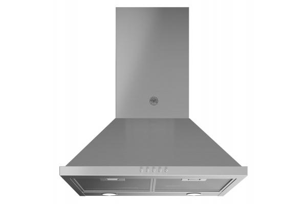 "Large image of Bertazzoni Professional Series 24"" Stainless Steel Chimney Hood - KCH24XV"