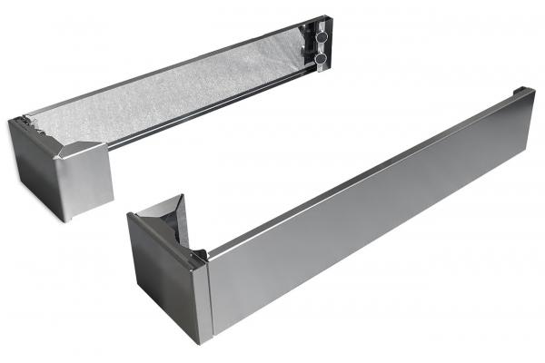 Large image of Bertazzoni Stainless Steel Toekick Panels Square Legs Covers - TKHERX