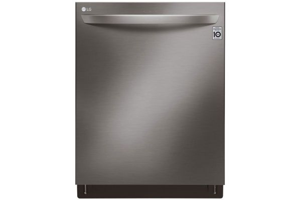 """Large image of LG 24"""" Black Stainless Steel Top Control Smart Wi-Fi Enabled Dishwasher With QuadWash And TrueSteam - LDT7808BD"""
