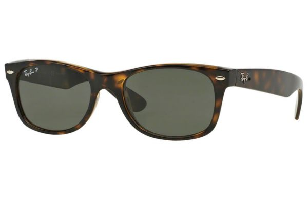 Ray-Ban New Wayfarer Polarized Tortoise Unisex Sunglasses - RB2132 90258 55
