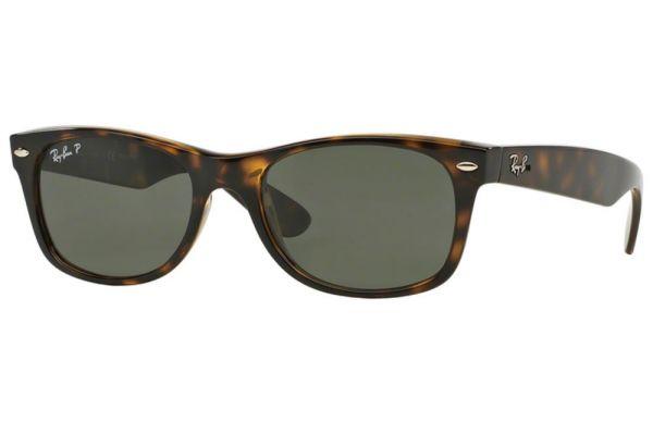 Large image of Ray-Ban New Wayfarer Polarized Tortoise Unisex Sunglasses - RB2132 902/58 55-18