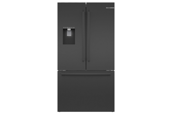 "Large image of Bosch 36"" Black Stainless Steel Standard-Depth 3-Door Refrigerator - B36FD50SNB"